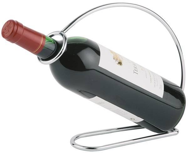 GBAP0562 Weinflaschenhalter Metall verchromt 22 x 6 cm, H= 20,5 cm