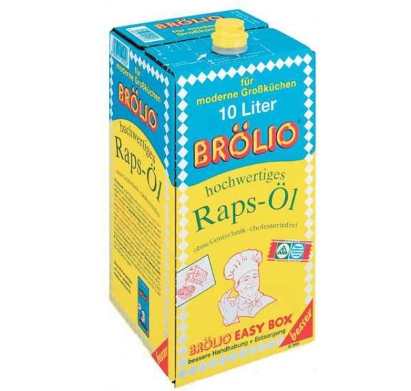 OFOL0028 Öl aus Raps BRÖLIO Box m. Ausgießer = 10 L