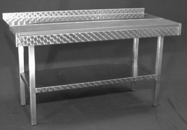 AMTI0026 Stufentisch Edelstahl 150x70x90cm ohne Schneidbretter
