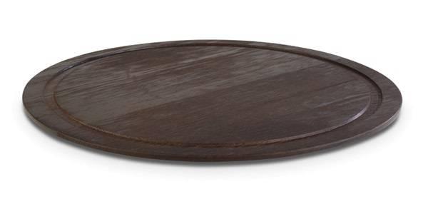 HOPL0315 Tablett WOOD rund Eiche dunkel D= 38,5 cm H= 2 cm