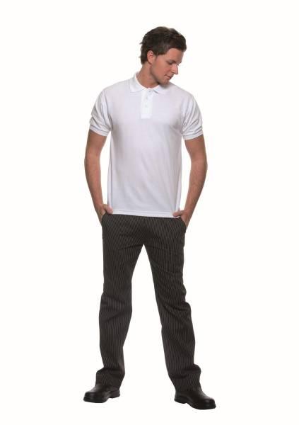 BEMO0452 Poloshirt Basic Herren weiß Gr. S