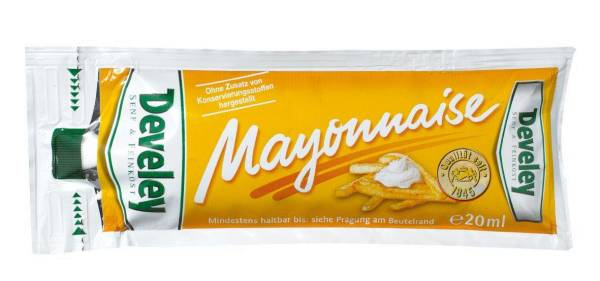 OFMA0021 Mayonnaise von Develey 20 ml-Portionsbeutel Karton= 150 BL