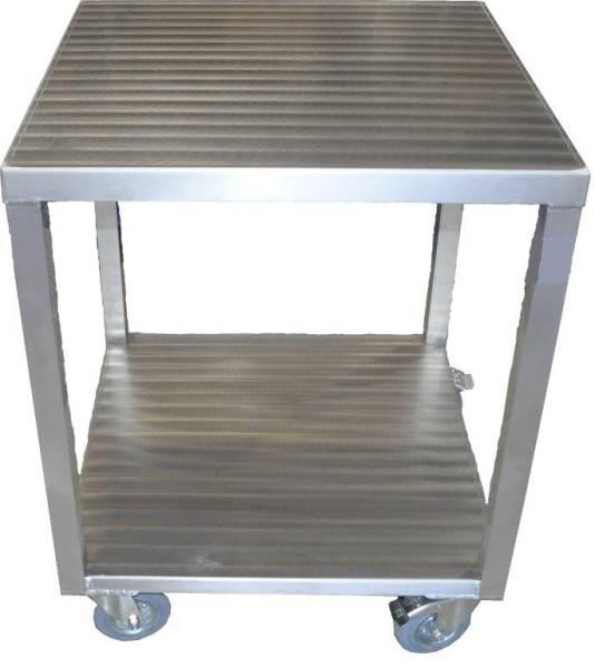 AMTI0025 Maschinen-Tisch Alu fahrbar 680x680x850 mm, mit 2 Feststeller