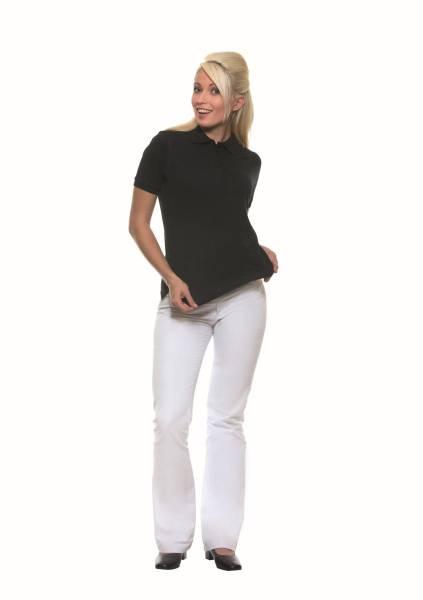 BEMO0446 Poloshirt Basic Damen schwarz Gr. XS