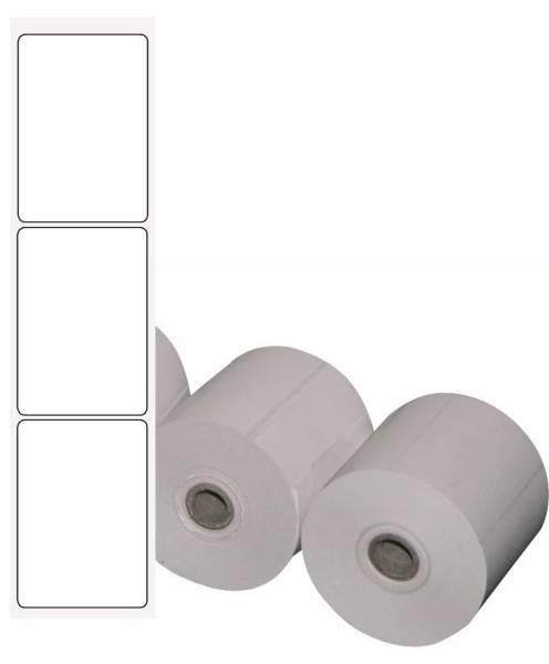 TPET0004 Thermo-Etiketten Mettler 102 mm weiß/gelb Rolle= 600 Stück