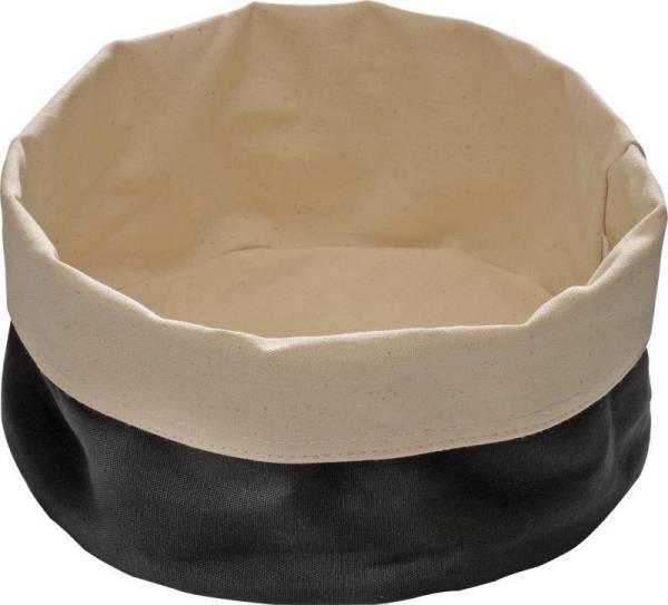 GBAP0515 Brottasche Baumwolle beige/schwarz 20 x 15 cm Höhe= 7 cm