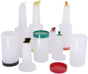 CNCO0028 Getränkemix-/Vorratsbehälter 1 L weiß, Ausguß & Deckel braun
