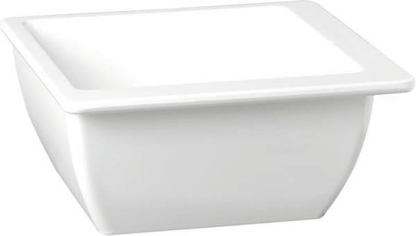 GBAS0446 Schale Apart Melamin, weiß 15x15 cm H=6,5 cm,0,50 L, viereckig