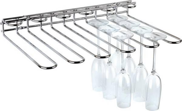 GBAP0117 Gläserschiene 45 x 32 cm H=6 cm Metall verchromt für 20 Gläser