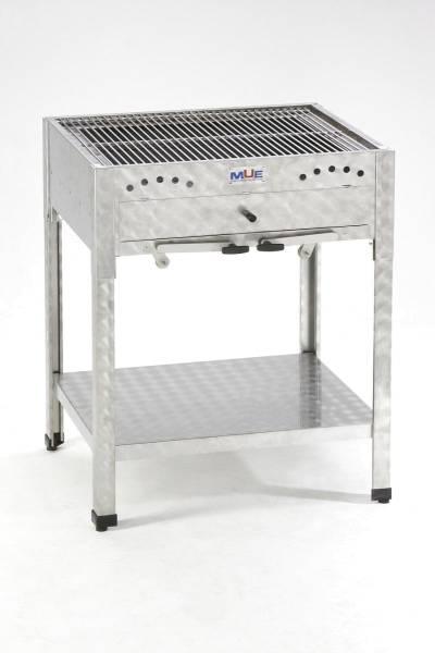 THSO0600 Grill für Holzkohle 655x537x830 mm mit höhenverstellbarem Glutkasten