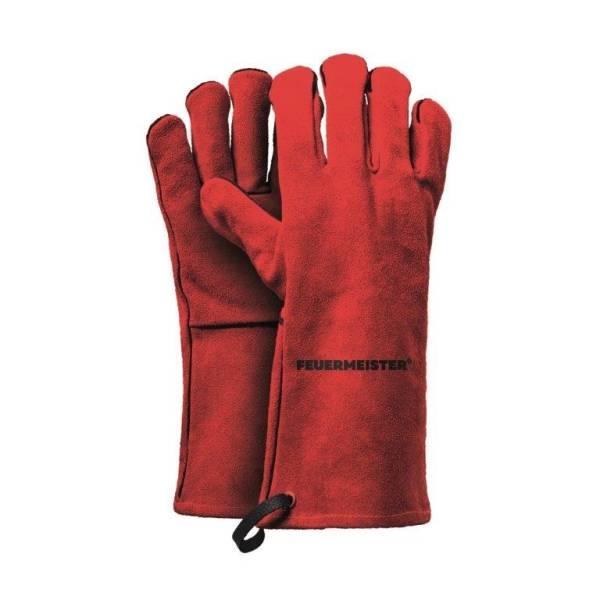 BEHA0259 Grill Handschuhe aus Leder rot Gr. 10