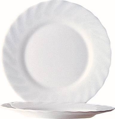 GLAR0091 ARCOROC Trianon Uni Dessertteller 15,5 cm weiß flach Pack= 6 Stück