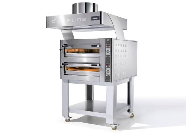 THSO0573 Elektro-Pizzaofen DN435/2M 400V 2 Etagen 1155x1000x784mm