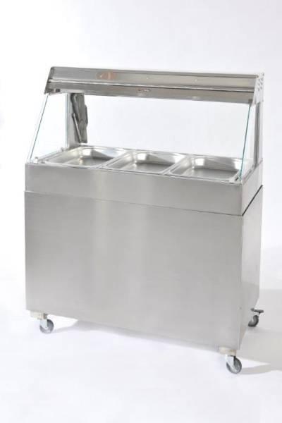 THSU0067 Heiße Theke HV-108 Suprema schräg 3xGN1/1-65mm, 1085x610x650mm