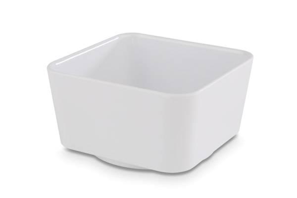 GBAS0562 Schale quadrat UNIVERSAL Melamin weiß 0,6 L 13 x 13 cm H= 7 cm
