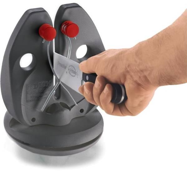 SFDI0013 Rapid Action-Set Messerschärfer schwarz mit Bodenplatte