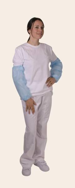 BESO0079 Ärmelschoner aus Polyethylen blau L = 36 - 40 cm Beutel= 100 Stk