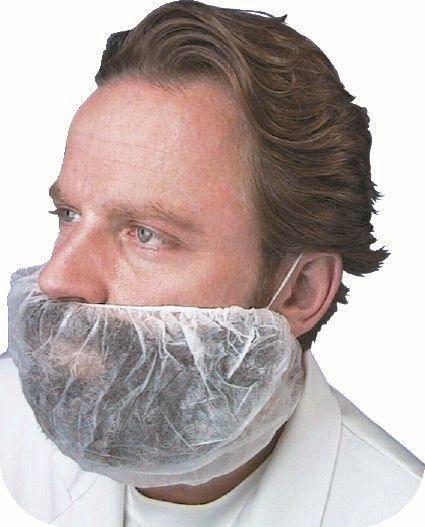 BESO0068 Bartschutz mit Gummizug Vliesstoff Beutel= 100 Stk