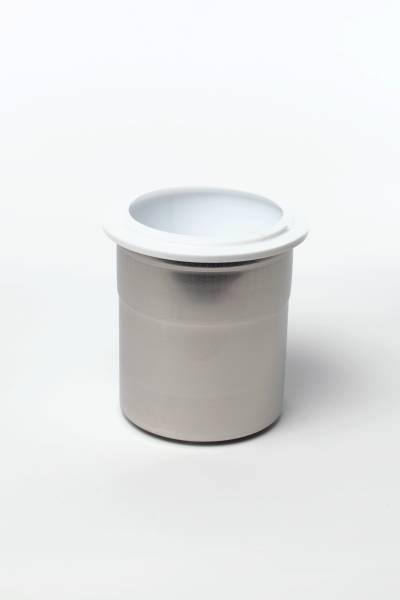 CNSO0375 Pacossierbecher Edelstahl mit Deckel aus Kunststoff Karton= 6 Stk