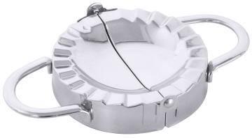 CNCO2617 Maultaschenformer aus Edelstahl D= 10 cm, L= 17,5 cm, H= 2,5 cm