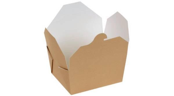 UVSO0235 Take-Away Box Kraft PLABeschichtung 800 ml 11x9x6,5 cm PK=20 Stk