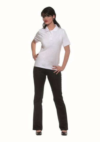 BEMO0440 Poloshirt Basic Damen weiß Gr. XS