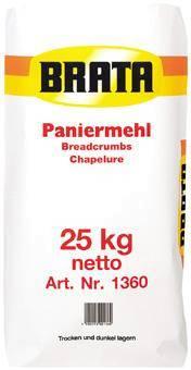 TSME0006 Brata Paniermehl Sack= 25 kg mittlere Körnung
