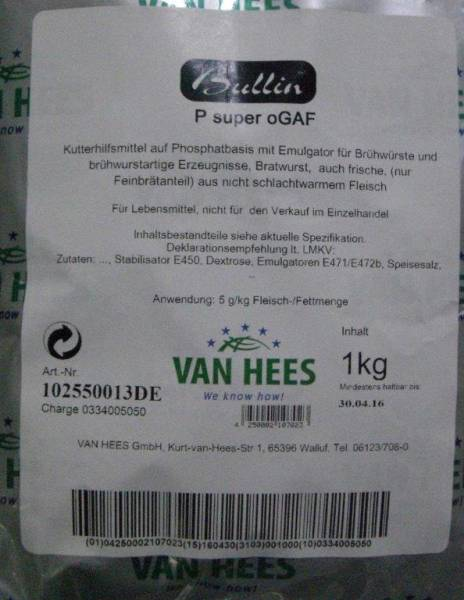 H1VH0131 Van Hees Kutterhilfe Bullin P super Beutel = 1 kg