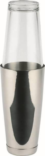 GBAP0091 Boston Shaker H=30 cm 2-teilig Edelstahl-Becher 700ml, Glas 400ml