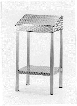 AMTI0007 Stehpult Edelstahl 60x50x120 cm nicht abschließbar, mit Klappe