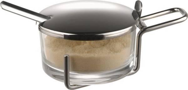 GBAP0355 Parmesan-Menage -Profi- Metall verchromt, D= 9 cm, Höhe= 5,5 cm