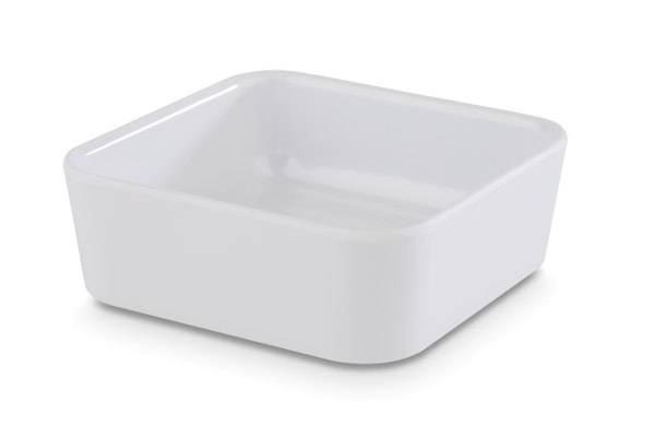GBAS0561 Schale quadrat UNIVERSAL Melamin weiß 0,15 L 9 x 9 cm H= 4 cm