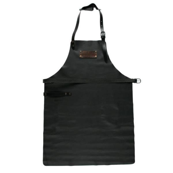 BESC0498 Grill Schürze aus Leder schwarz Gr.1  ohne Taschen