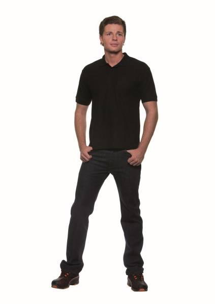 BEMO0459 Poloshirt Basic Herren schwarz Gr. S
